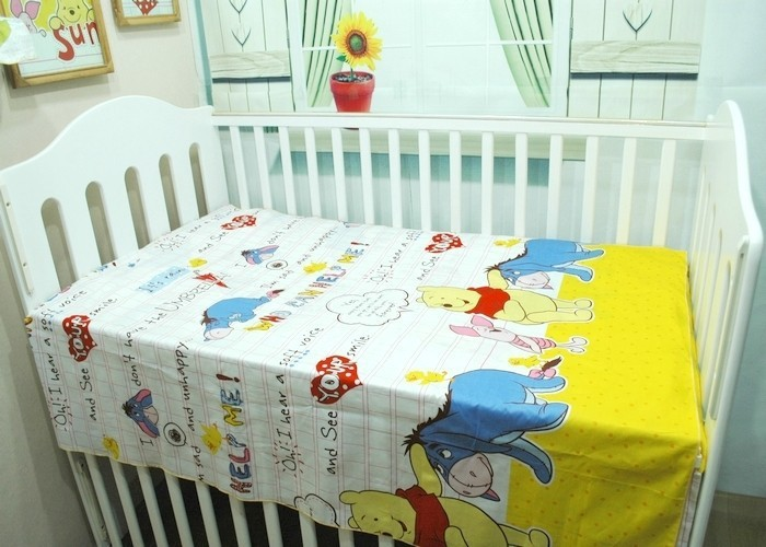 Promotion! 6/7PCS Cute Pattern Crib Bedding piece Set 100%Cotton crib set baby bedding set ,120*60/120*70cm