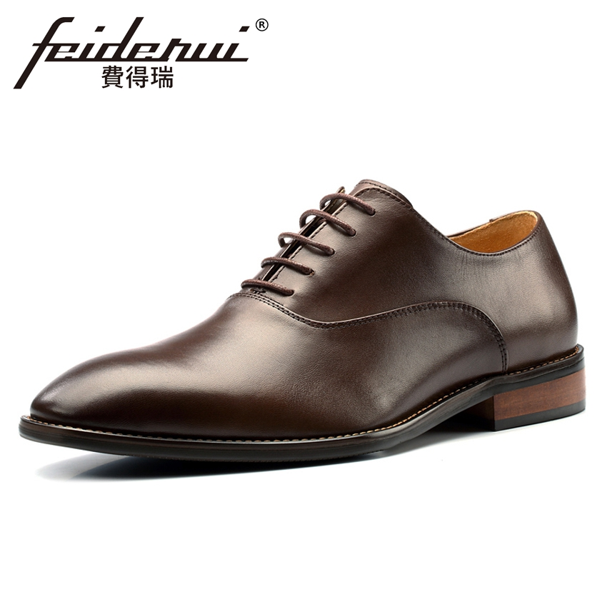 Plus Size New Luxury Genuine Leather Men's Formal Dress Oxfords Italian Designer Pointed Toe Wedding Party Handmade Shoes MLT47 plus size 2016 new formal brand genuine leather high heels pointed toe oxfords punk rock men s wolf print flats shoes fpt314