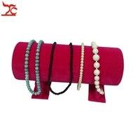Wholesale High Quality Velvet Bracelet Necklace Hair Hoop Headband Display Stand Holder T Bar 31cm L