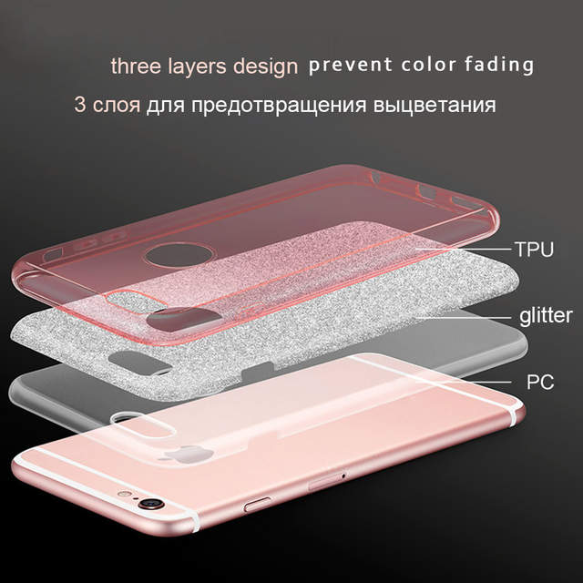 Online Shop Case For Iphone 6 6s 7 Plus For Iphone 8 X Glitter
