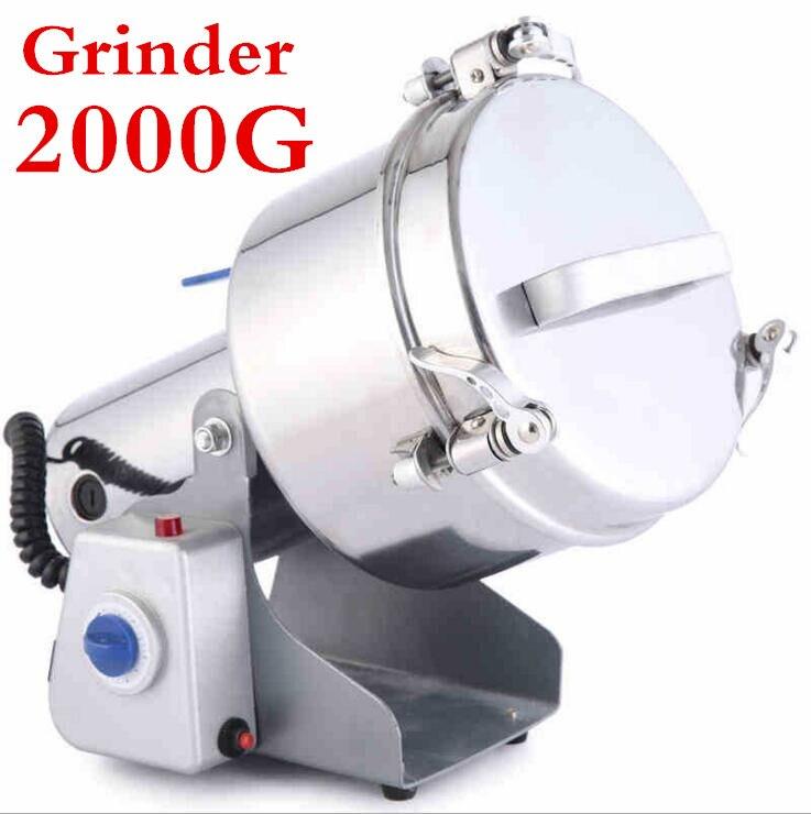 1 pc Multifonction Swing Type 2000g Portable Grinder Herb D'inondation Farine Pulvérisateur Alimentaire Moulin de Broyage Machine