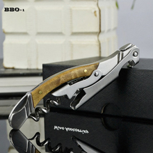 Wine Openers Wood Handle Professional Wine Bottle Opener Folding Portable Stainless Steel Wine Knife Wine Beer Can Openers