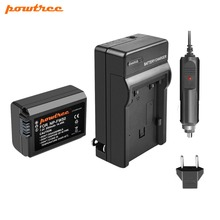 Powtree For Sony 7.2V 2000mAh NP-FW50 NP FW50 NPFW50 Camera Battery + Charger Alpha a7 7R a7R a3000 a5000 a6000 a6300 a6500
