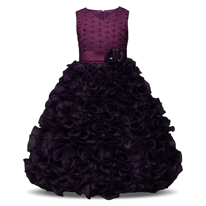Flower Girl Dress For Wedding Party Kids Summer Clothes Children Costume Little Princess Girls Clothing Tutu Baby Prom Ball Gown summer flower girl wedding dress toddler floral kids clothes lace birthday party graduation gown prom dresses girls baby costume