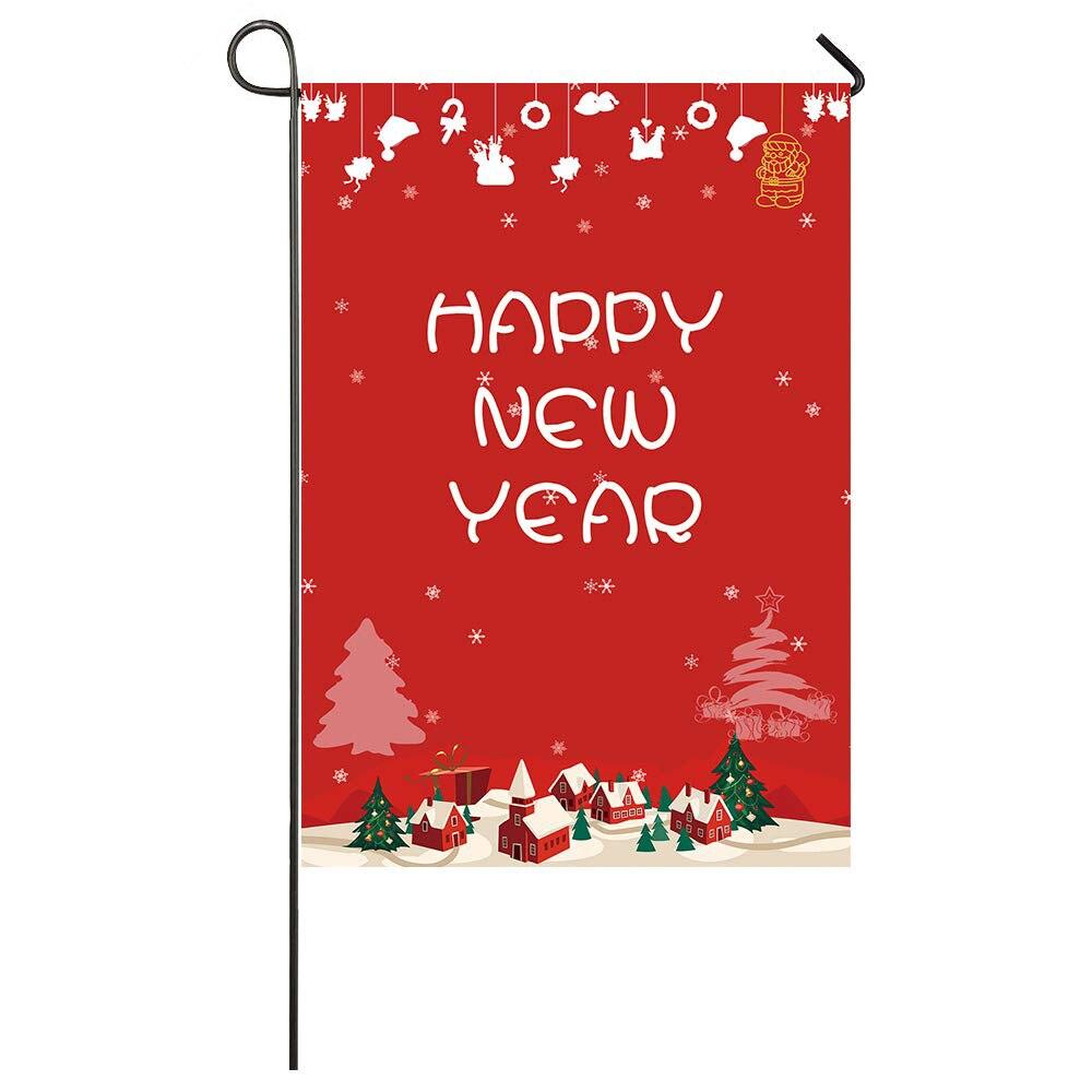 Flag Indoor Outdoor Home Decor Custom Happy New Year Yard ...