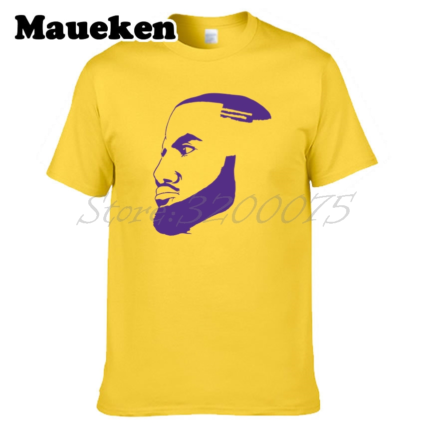 premium selection 106bb 6be5b US $18.88 |Men LeBron James 23 King James Outline Los Angeles T shirt la  Clothes T Shirt Men's For Fans Silhouette Tee W18070106-in T-Shirts from ...