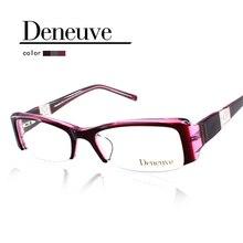 2016 lady fashion half rim acetate  eyewear,designer eyeglasses optical frame,oculos de grau, women prescription glasses DN4442