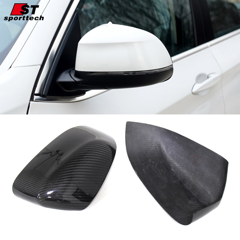 Rearview Mirror Cover Designed For BMW F15 X5 Carbon Fiber 3D Rear View Mirror Sticker For BMW F15 X5 Car Styling Accessories yandex w205 amg style carbon fiber rear spoiler for benz w205 c200 c250 c300 c350 4door 2015 2016 2017