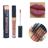 New Color Beauty Glazed New Hot 10 PCS Per Lot Silky Matte Liquid Lipstick Make Up