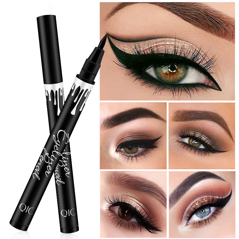 Black waterproof eyeliner pen big eye makeup lasting fluff making soft quick-drying eyeliner beauty tools