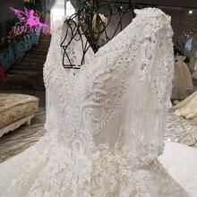 AIJINGYU Sexy robe de mariée courte Sequin robe de bal boutiques de mariée ivoire espagnol grande taille robe de mariée magasin