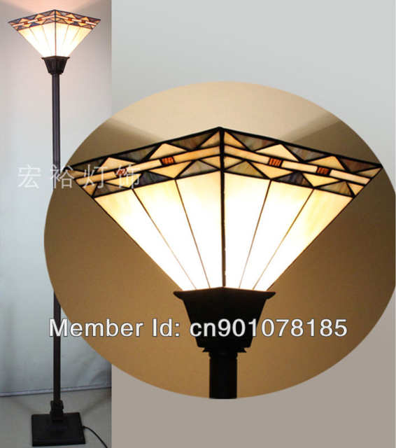 Mission Style Tiffany Torchiere Lamp Dinning Room Floor Lamp