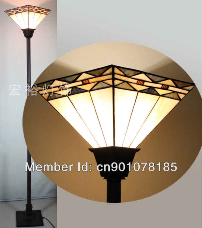Mission Style Tiffany Torchiere Lamp
