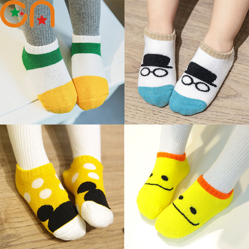 3 pairs/lot Girl Boy Cotton fashion Socks Baby Infant cute Cartoon Socks children Autumn/Winter sports Socks Kids cheap stuff CN