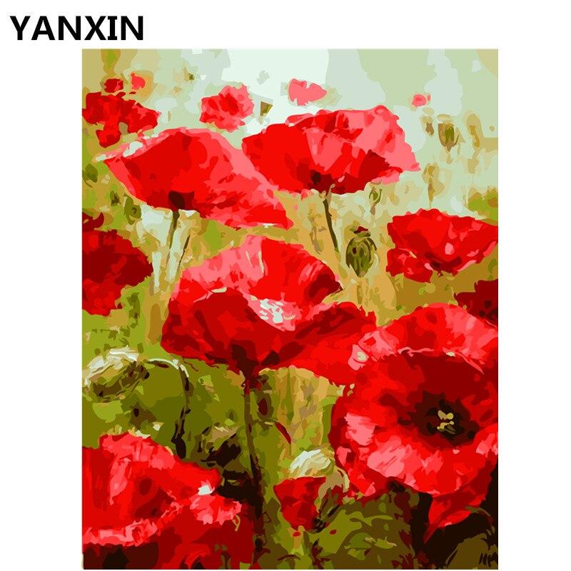 YANXIN DIY Rahmen Malerei Durch Zahlen Öl Malen Wandkunst Bilder Für ...