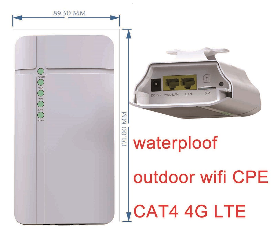 Lot de 1000 pcs 4g CPE Lte Sans Fil industrielle en plein air étanche wifi Routeur