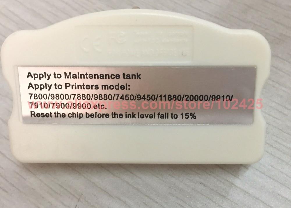 Maintenance Tank Chip Resetter For Epson 4880 4800 7800 9800 7880 9880 7450 4450 9450 11880 20000 9910 7910 7900 9910 Printer 1 pc waste ink tank chip resetter for epson 11880 11880c 7900 9900 7880 9880 7800 9800 7450 9450 maintenance tank cartridge