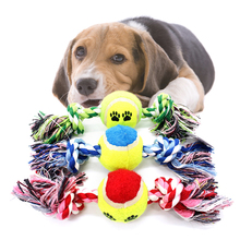 Rope woven pet dog toy Bite claning teeth ball toys bites the rope Golden Retriever Siberian Husky Dog Toys For Large Dogs