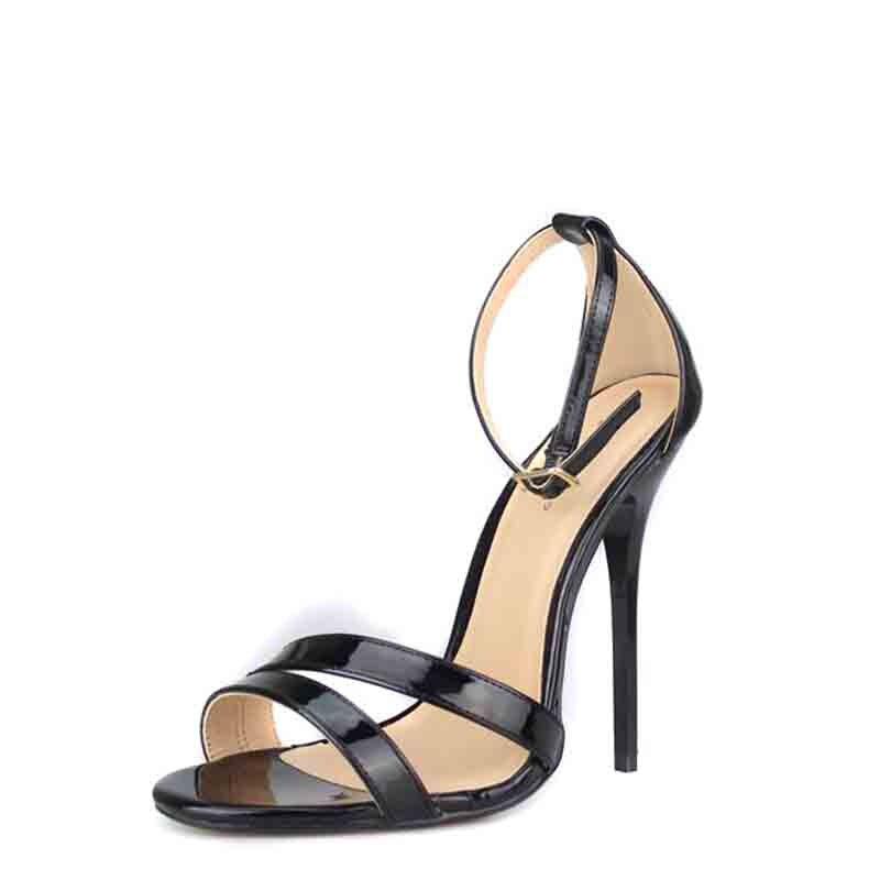 Chaussures Mode Parti Femmes 18 Taille Grande Sandales Femme Super 37 50 De  Orteil Point Cm Black Mariage Pompes Haute Mince Talon ... 173c589a0023