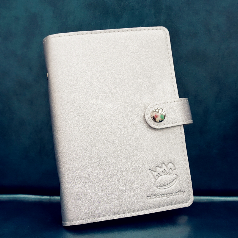 Silver Mango Faux Leather Notebook Monthly Weekly Planner Lined Journal Blank Diary Free Note