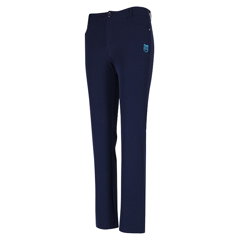 Pgm Women'S Golf Pants High Elastic Sportswear Pencil Golf Tennis Pants Navy Blue