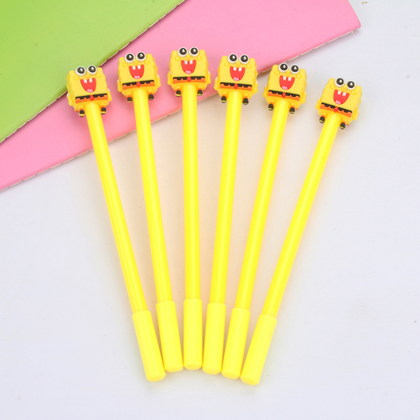 1pc Creative Kawaii Spongebob Squarepants Gel Pen Stationery Office Material Escolar Papelaria School Supplies