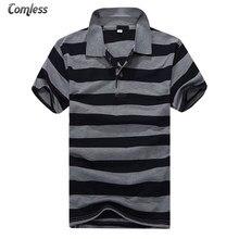 5d4307978a8 2017 nueva verano hombre manga corta raya da vuelta-abajo Polo camisa  hombres marca ropa básica camisa Polo ralphmen hombre