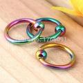 10x Stainless Steel Hoop Nose Stud Ring Body Piercing Multi Color 16Gauge Nose Lip Ring Piercing Rings & Studs Jewelry Wholesale