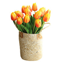 Wedding Bouquet Tulip Pink Artificial-Flower Orange Home-Decoration Purple Yellow Red-Colors