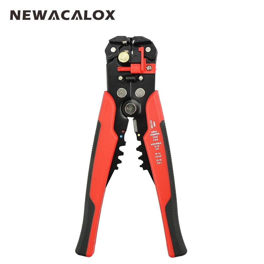 NEWACALOX Kabel Draht Stripper Cutter Crimper Automatische Multifunktionale Crimpen Abisolieren Zange Werkzeuge Elektrische