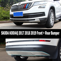 Fit For SKODA KODIAQ 2017 2018 2019 Front + Rear Bumper Diffuser Bumpers Lip Protector Guard skid plate Stainless steel