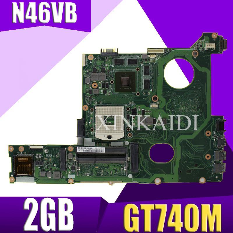 XinKaidi N46VB GT740M 2 GB N46VJ laptop motherboard mainboard Para ASUS N46V N46VM N46VZ N46VB 60NB0100 MB2 (020) 100% Testad