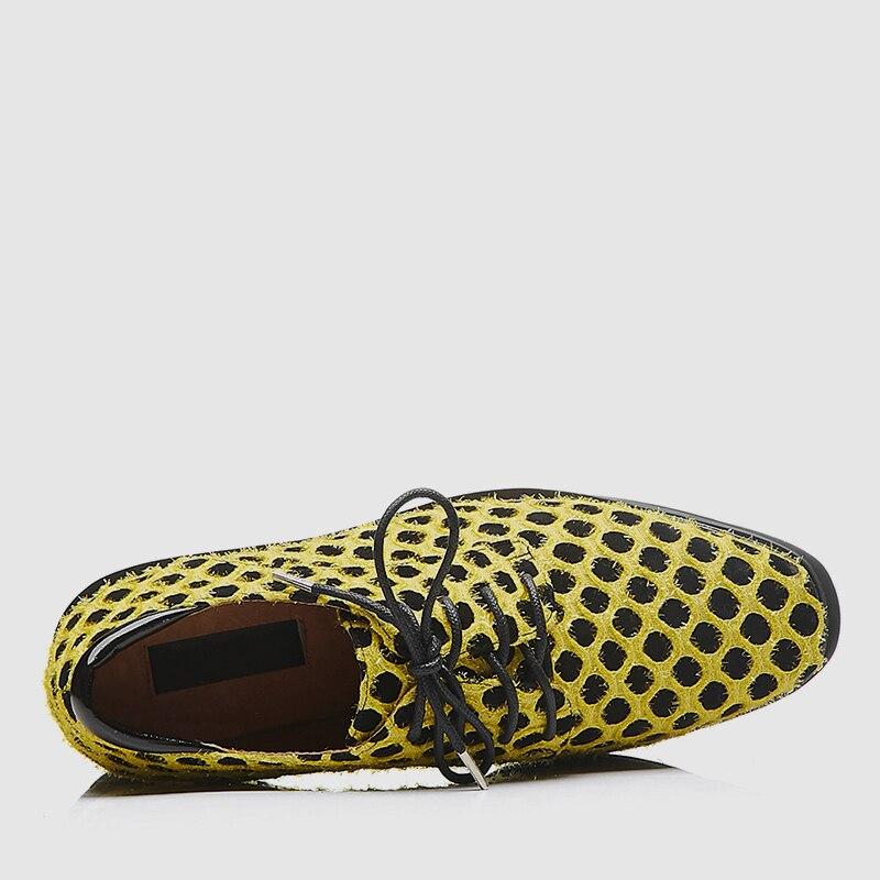 Genuino Chica Nueva Sarairis Cuero Primavera 2019 Zapatos Gamuza Llegada Plataforma Lunares Alta La Mujeres amarillo 40 Negro Deporte Tamaño Mujer De Zapatillas Gran 33 Las O6q6r7d
