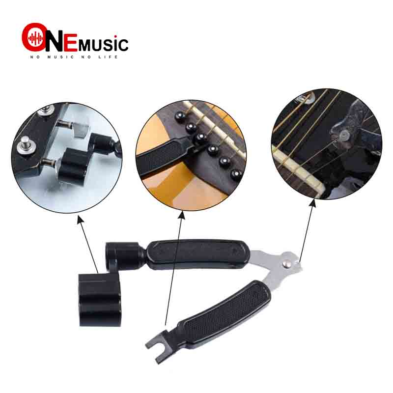 Free Shipping 3 In 1 Multifunction Guitar String Winder String Pin Puller String Cutter Guitar Tool Guitar Accessories