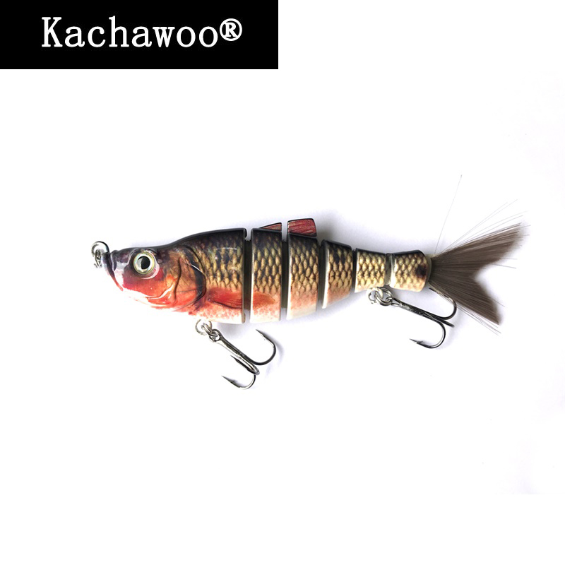 Hard Lure Jointed 6 Inch 40g Silicone Bait Fishing Lures Soft Hair Tail Rainbow Swimbait Pike for Bass Fish Games Tournament