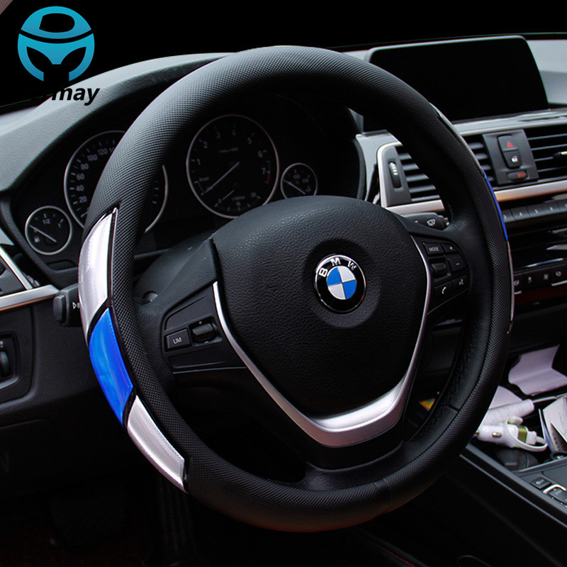 Reflective Movement Diamond Steering Wheel Cover 3 Colors Anti-slip For 38CM Car Styling Steering-wheel Car-covers Free Shipping dermay car steering wheel cover sport style steering cover soft anti slip for 38cm 15 steering wheel car styling free shipping