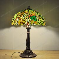 Free Delivery Of European Green Grape Lamp Tiffany Villa Living Room Bar Lamp Glass Art Luxury