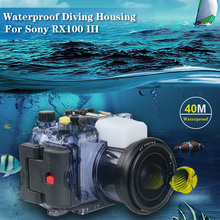Underwater 40m Photography Videography Camera Waterproof Protective Case for Sony RX100 Mark III Camera Housing Diving Cover waterproof case for canon 5d mark iii 3 iv 4 dslr camera housing underwater 40m scuba diving photography protective box cover