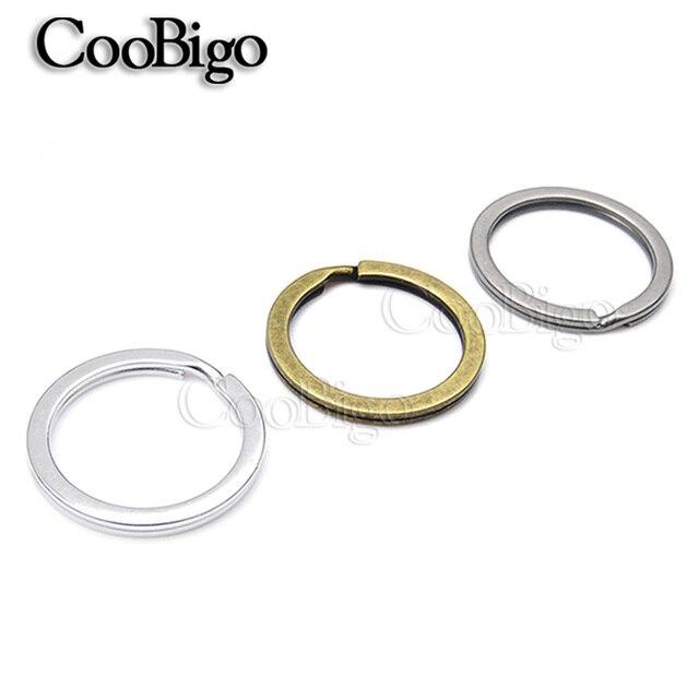 500pcs 25mm Outer Diameter Flat Key Rings Key Chain Split O Rings 3 ...