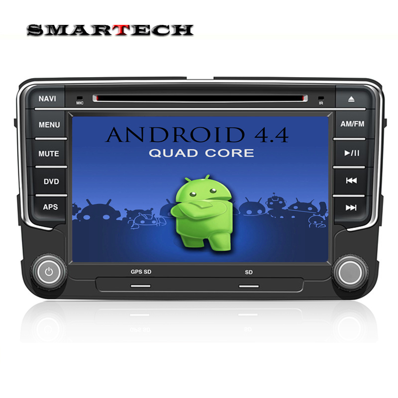 2Din VW RSN 510 Android 4.4 Car Stereo Radio 7 Inch HD 1024*600 Screen Quad Core Car DVD GPS For EOS Passat b6 Golf 5 Polo Jetta