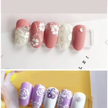 new 1 Sheet 3D Water Decals Nail Art Stickers white lace  mix flower shape for Nails Sticker Decorations Manicure Z070