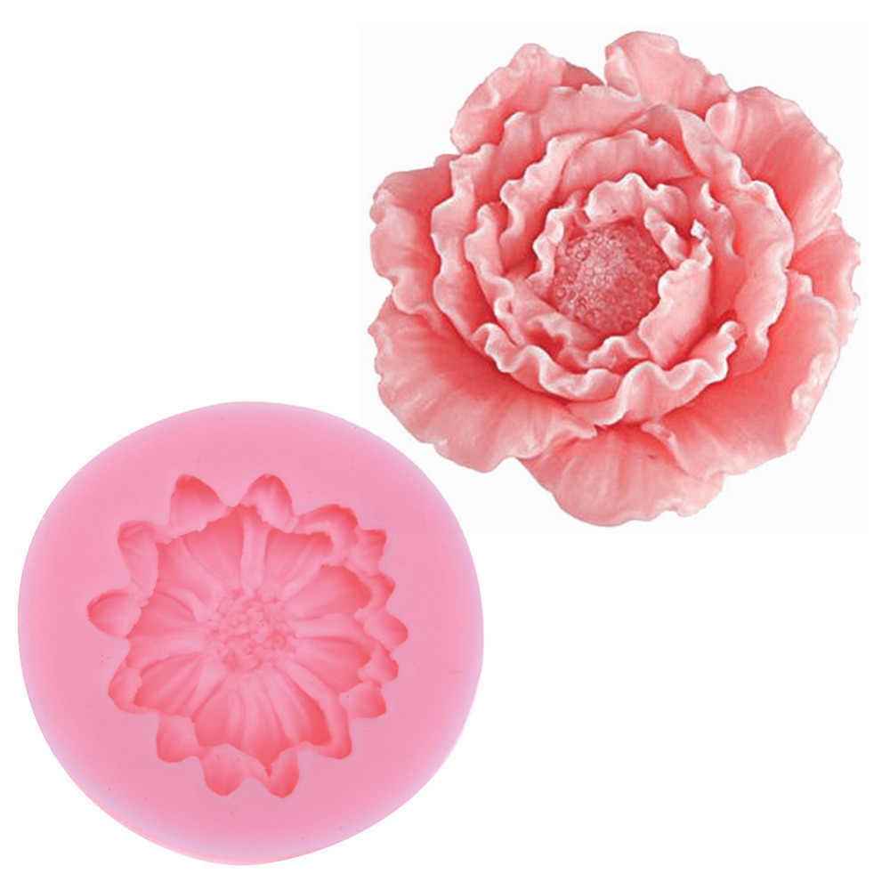 Small Lily Peony Shape Silicone Mold Fondant Chocolate Soap Moulds Candy Cake Molds Embossed Sugar Arts Flower DIY Wedding Decor