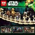 Envío gratis 1990 unids Lepin 05047 Aldea Ewok Star Wars Juguete para Construir Bloques de Construcción Ladrillos Juguetes Compatible 10236
