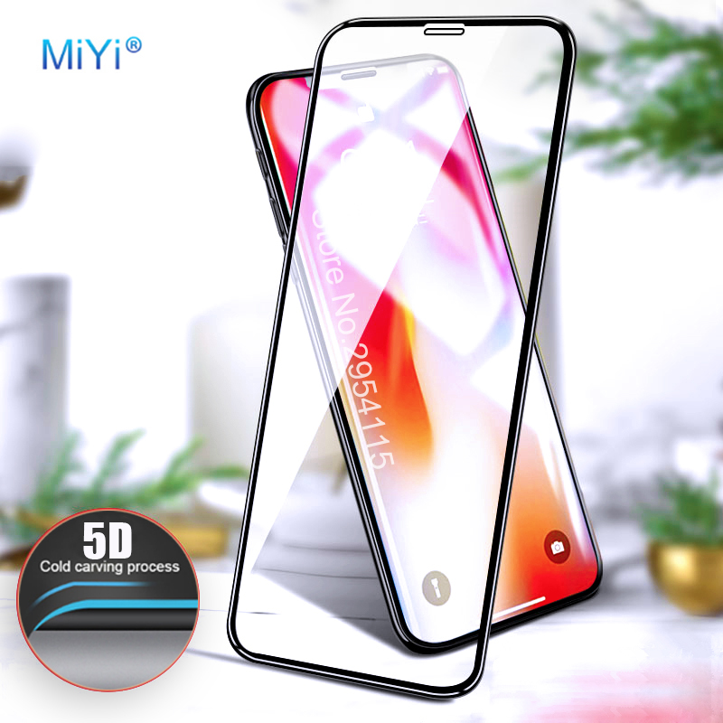 For iphone7 Screen Protector 5D Curved Edge Tempered Glass For Apple Iphone 6 S 7 8 Plus X 10 IphoneX Full Cover Protection Film ...