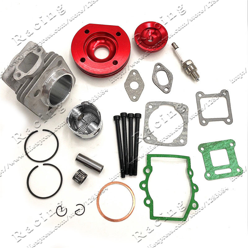 44mm cylindre Assy grand alésage 44-6 Kit Set 2 rainures pour 47cc 49cc Mini saleté ATV poche vélos Minimoto