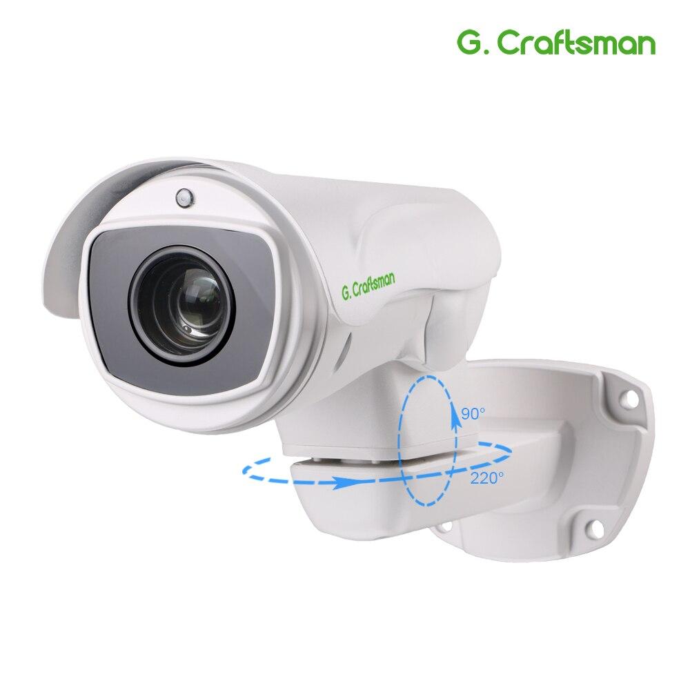 Câmera PTZ IP POE 10X H.265 4.0MP 5.0MP Outdoor 5.1-80 M P2P 55mm IR Zoom Óptico CCTV segurança À Prova D' Água G. artesão