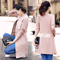 Slim Baseball Female Long New Casual Coat Letter Dust Coat Female Spring And Autumn Single-breasted Woman's Clothes