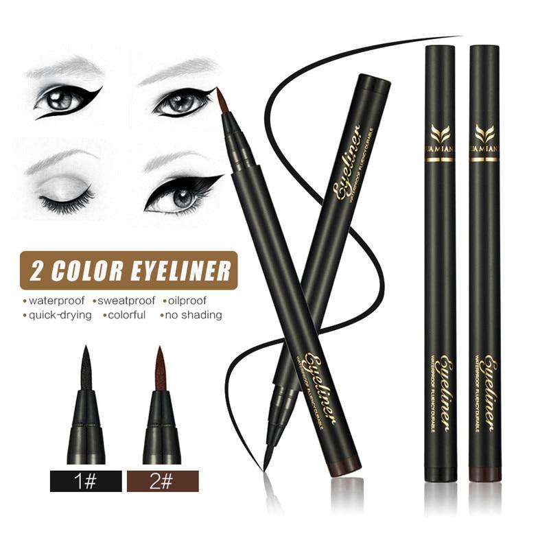 Black Waterproof Eyeliner Liquid Eye Liner Pencil Pen Makeup Cosmetics Fashion Make up 2 Style Choose