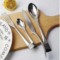 24 Pcs Kaya Luxury Cutlery Dinner Set Stainless Steel Dinner Knife Fork Tablespoon Dinnerware Service 6 Western Cutlery Sets