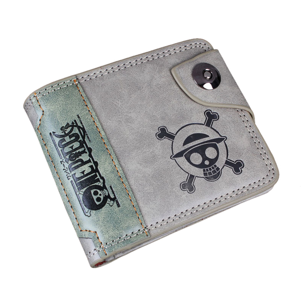 E-Mell Detective Conan Case Closed One Piece HITMAN REBORN Unisex Green Two folded Purse Wallets
